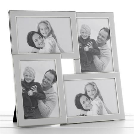Multi White & Silver Photo Frame Holds 4 Photos 691164119723 | eBay