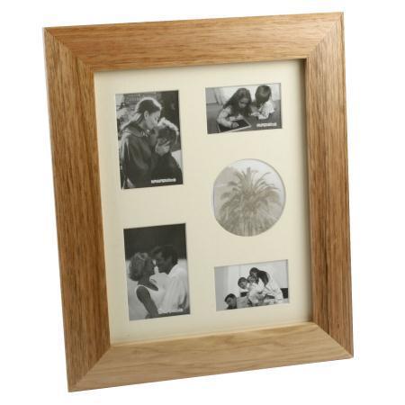 Wooden Photo Frame Collage Oak Finish Portrait 5 Photos NEW 20085 ...