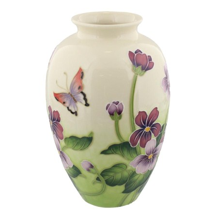 Old Tupton Ware Tw7977 Primrose Butterfly Design Vase Gift 22189