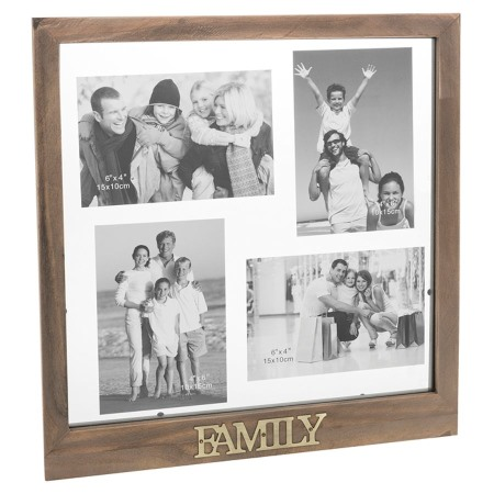 Rustic Collage Multi Family Photo Frame NEW in Gift Box - 24713 | eBay