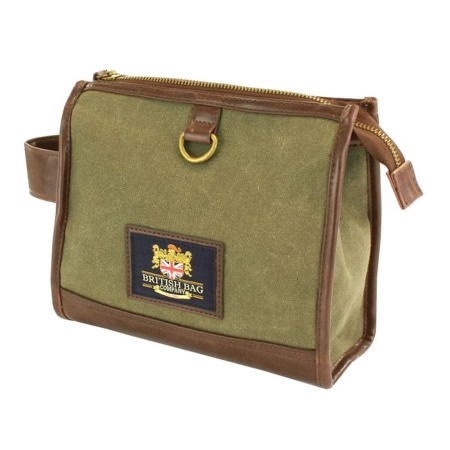 British Bag Co Waxed Canvas Wash bag Mens Gift NEW 25131 ... 4e837daa30