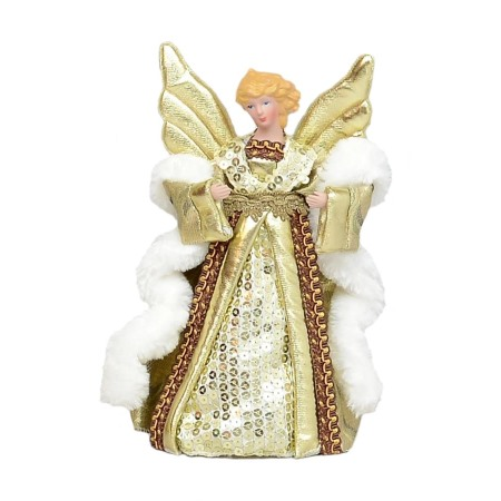 Angel Christmas Tree Topper.Details About Angel Christmas Tree Topper Champagne 20cm New