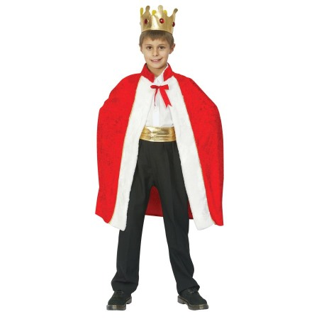 Childs Kids King Robe /& Crown Fancy Dress Costume Outfit Age 4-9 Years